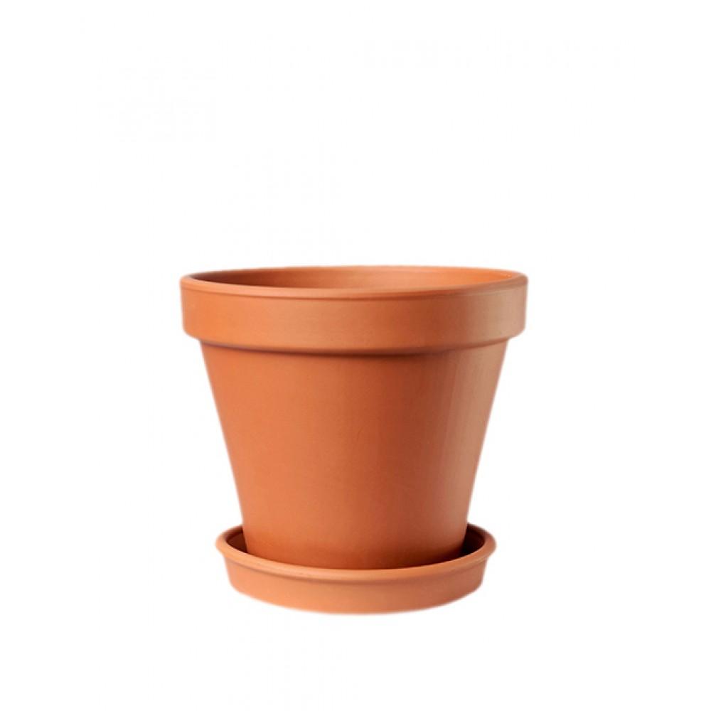 Горшок керамический гладкий Терра 0,2л - 10л