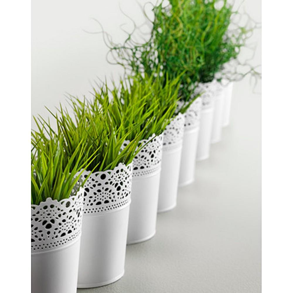 Openwork planter, metal, d 10.5 cm