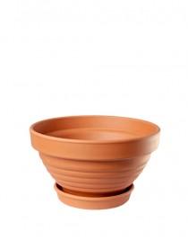 Bowl ceramic embossed Terra 0,3l