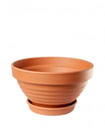 Bowl ceramic embossed Terra 1l