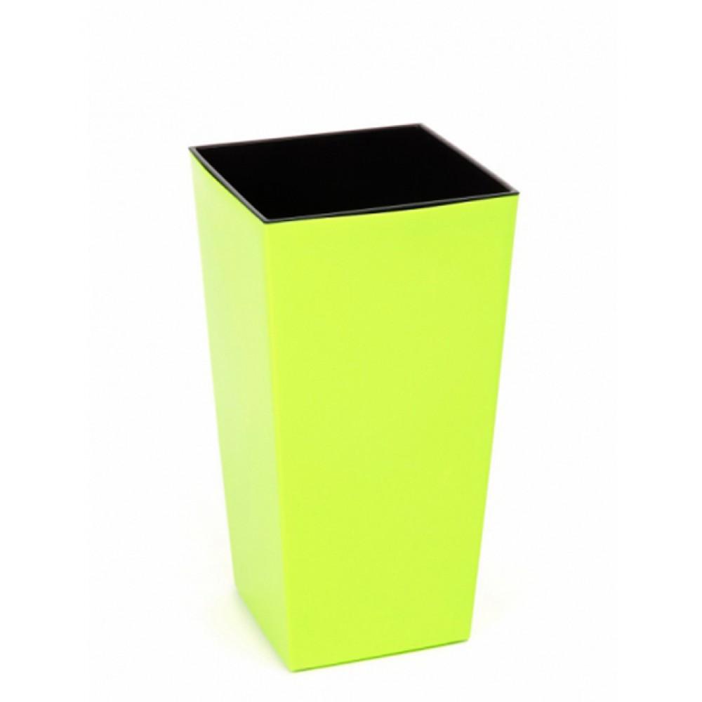 Кашпо Финезия квадрат 19*19, с вкладкой, пластик