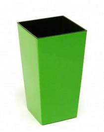 Кашпо Финезия квадрат 25*25, с вкладкой, пластик