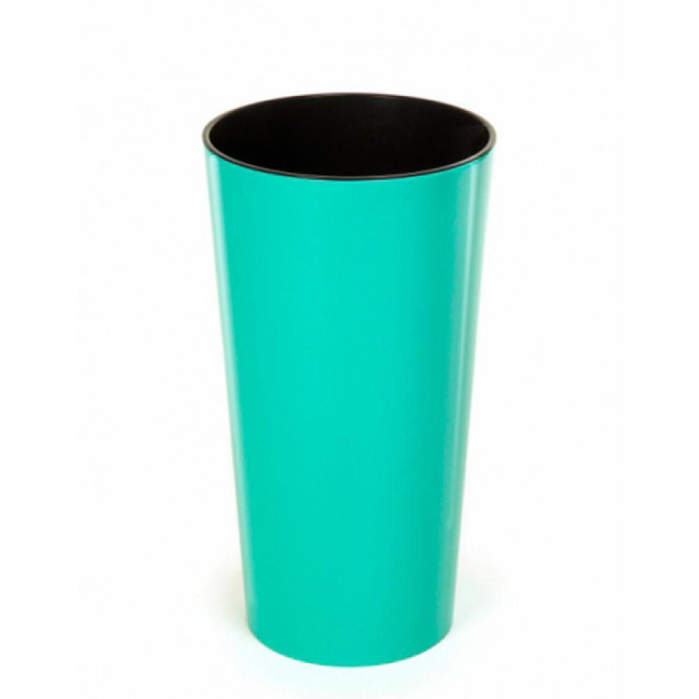 Кашпо Лілія d25, з вкладкою, пластик