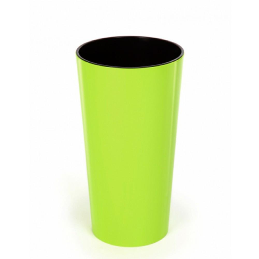 Кашпо Лілія d14, з вкладкою, пластик