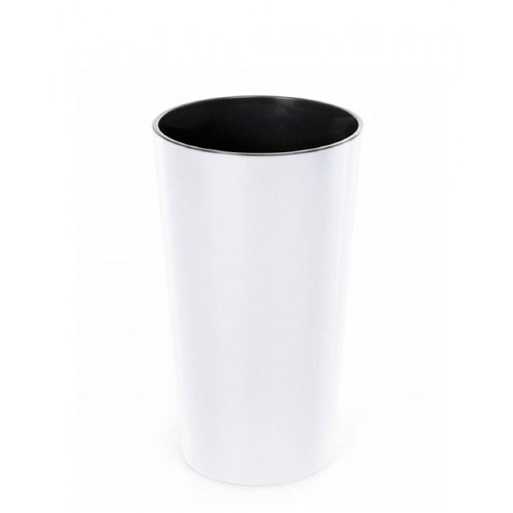 Кашпо Лилия d14, с вкладкой, пластик