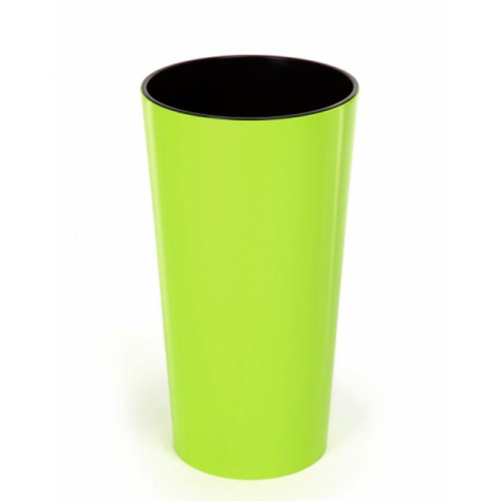 Кашпо Лилия d30, с вкладкой, пластик