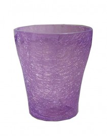 Orchid flower glass (mix), d 13cm