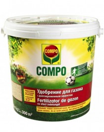 Solid fertilizer for lawns of fast action of Compo, 15 kg