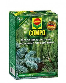 Solid fertilizer of long action for coniferous Compo, 1 kg
