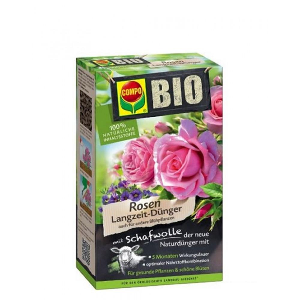 Твердое органическое удобрение длительного действия для роз Compo Bio, 750г