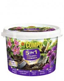 Микс удобрение 5 в 1 длительного действия для посадки растений Compo, 1,5кг