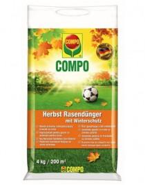 Solid fertilizer of long action for lawns (autumn) Compo, 4 kg