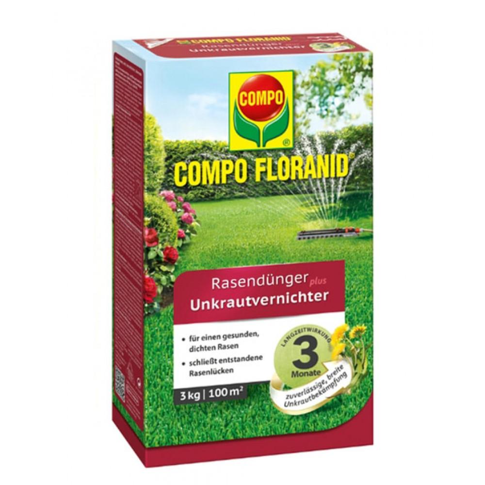 Твердое удобрение для газонов против сорняков Compo, 3кг на 100м.кв