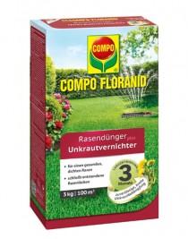 Solid fertilizer for lawns against Compo weeds, 3 kg per 100 sq.m.