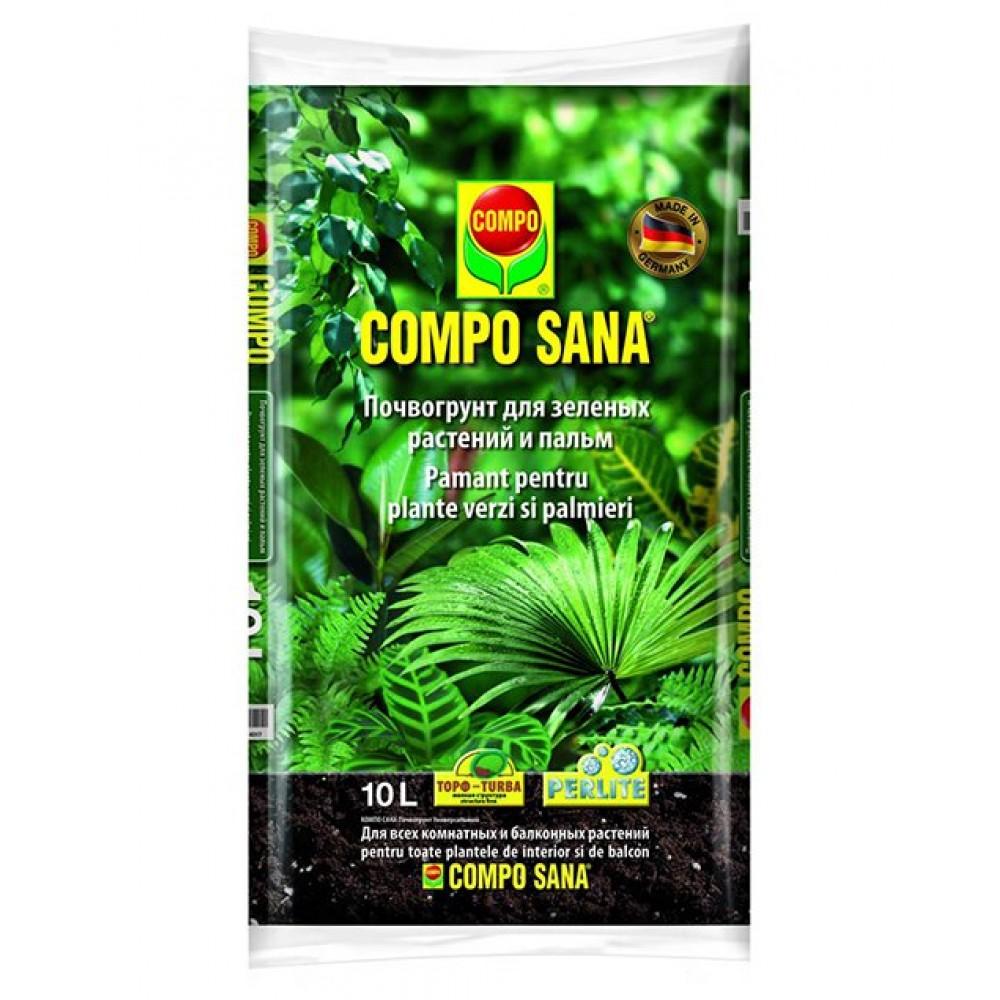 Торфосмесь для зеленых растений и пальм Compo Sana, 10л