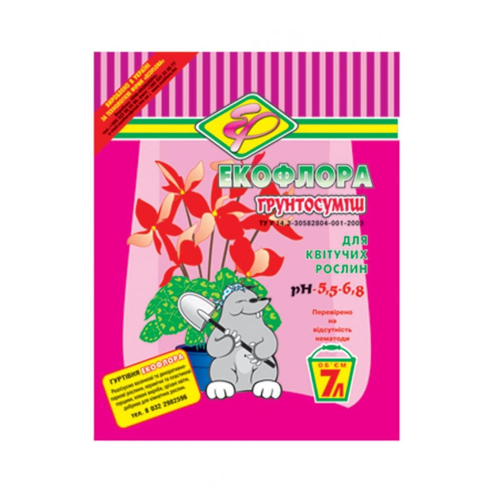 Soil for flowering plants Ekoflora, 7L