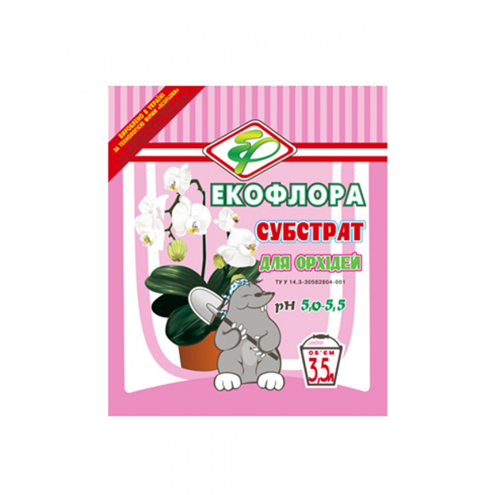 Субстрат для орхидей Экофлора, 3,5л